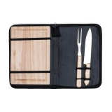 kit churrasco de madeira